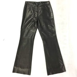 Andrew Marc Black Leather Pants